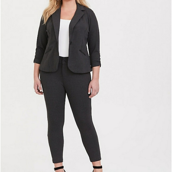 Torrid Studio Soho Premium Ponte Back Suit
